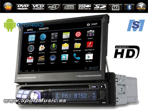 "Radio DVD GPS 1DIN (7"") Android HD"