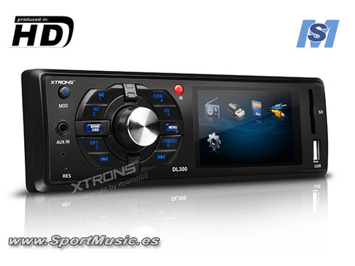 "Radio DVD / Multimedia Xtrons (3"") HD"