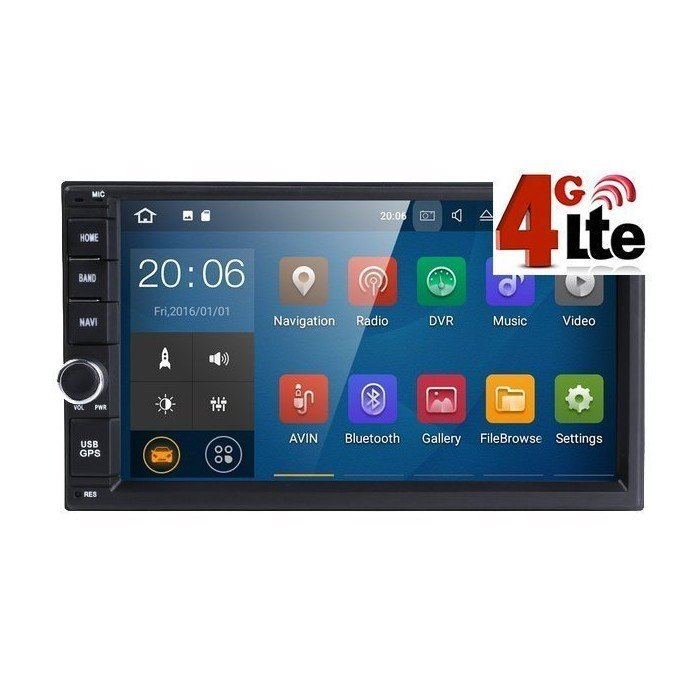 "Radio GPS Universal Android 2 DIN con 4G LTE (6,5"")"