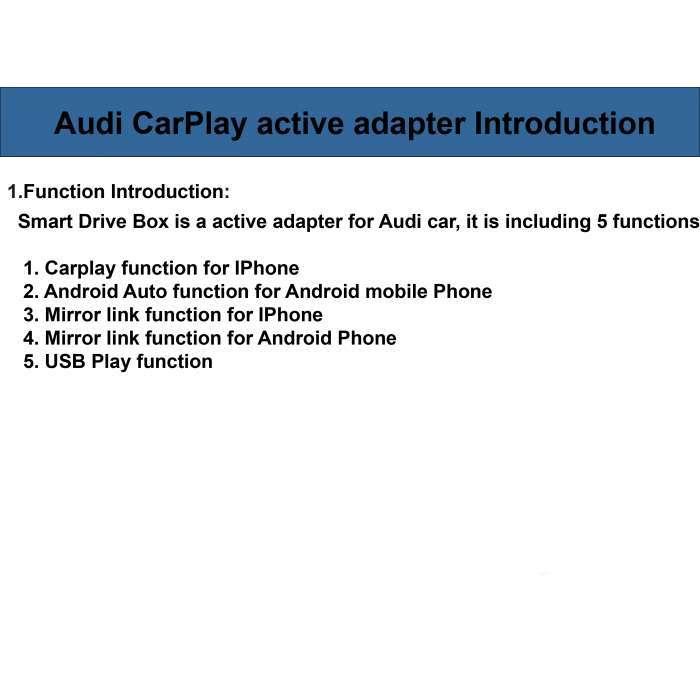 Carplay y Android Auto para Audi