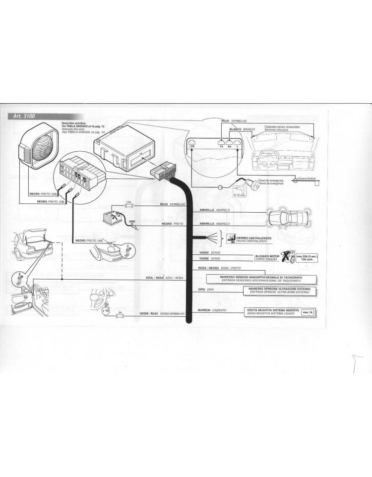 Alarma Cobra AK 4625, autoalimentada. (Montaje Incluído)