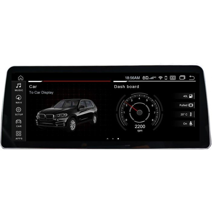 """Radio Navegador GPS Android para BMW X1 (12,3"""")"""