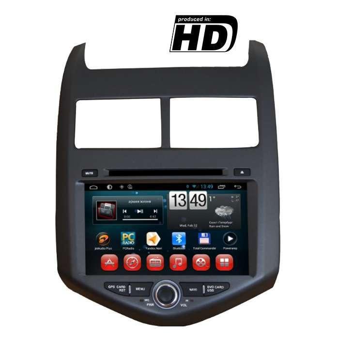 """Radio DVD Navegador GPS Android para Chevrolet Aveo (8"""")"""