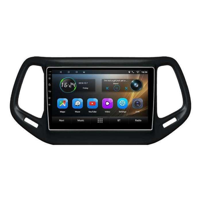 "Radio Navegador GPS Android para Jeep Compass (9"")"