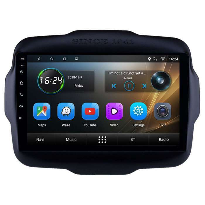"Radio Navegador GPS Android para Jeep Renegade (9"")"