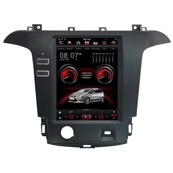 """Radio Navegador Android Tipo Tesla para Ford S-Max / Galaxy (12,1"""")"""