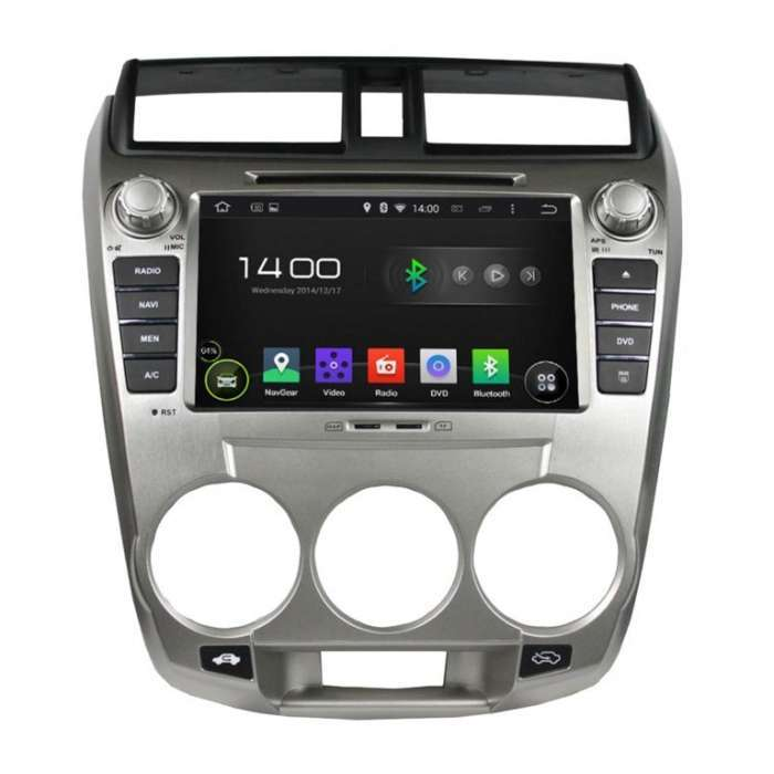 "Radio DVD Navegador GPS Android Octa Core para Honda City (8"")"