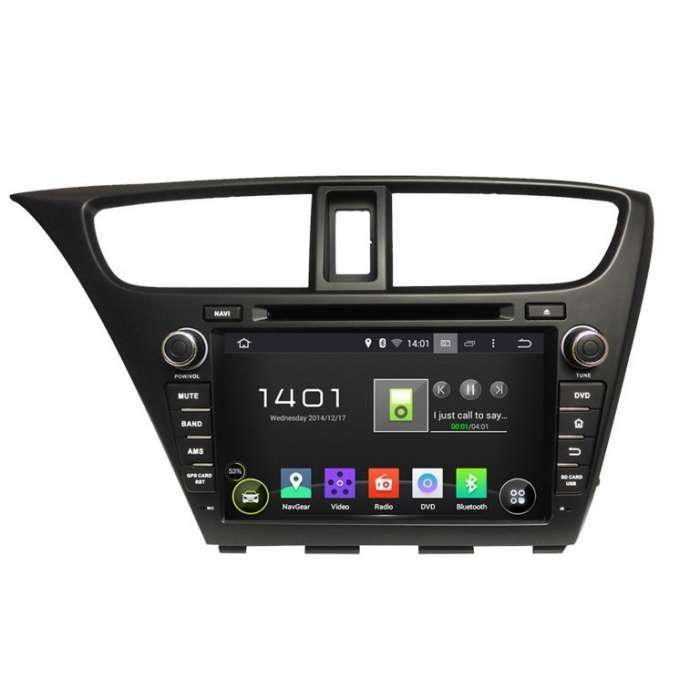 "Radio DVD Navegador GPS Android Octa Core para Honda Civic (8"")"