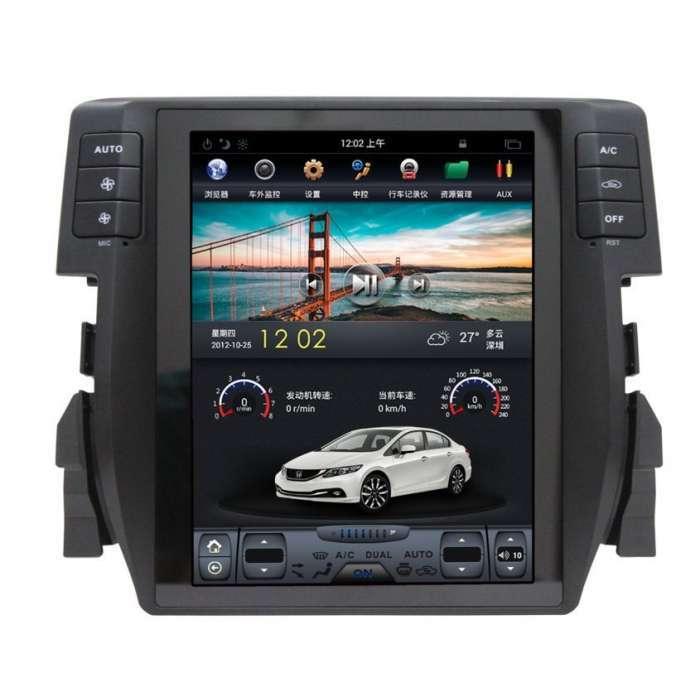 """Radio Navegador Android Tipo Tesla para Honda Civic (10,4"""")"""