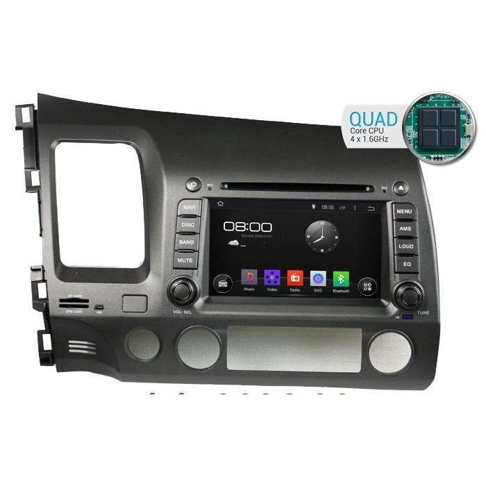 """Radio DVD Navegador GPS Android para Honda Civic (7"""")"""