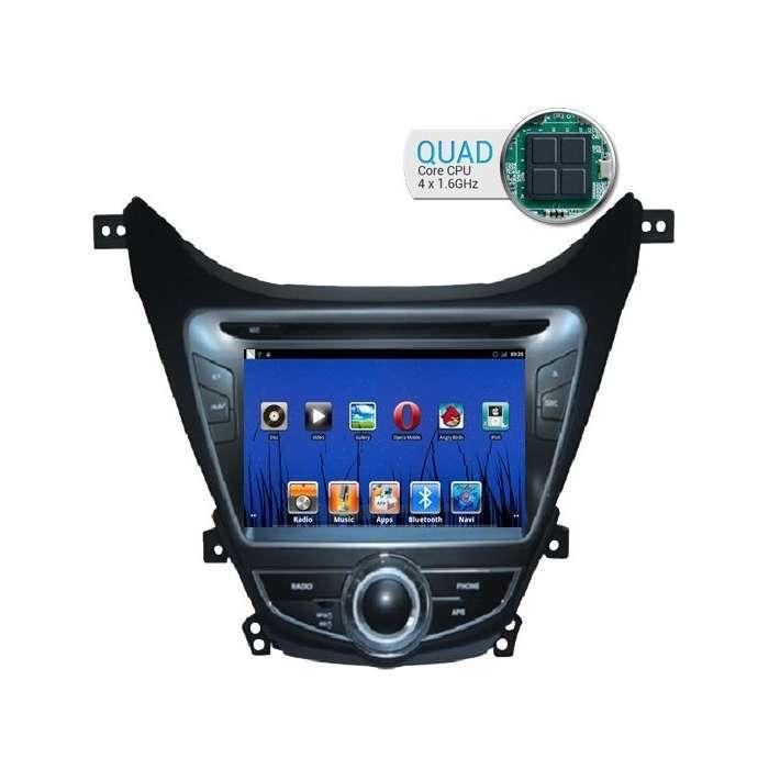 "Radio DVD Navegador GPS Android para Hyundai Elantra / I35 (7"")"