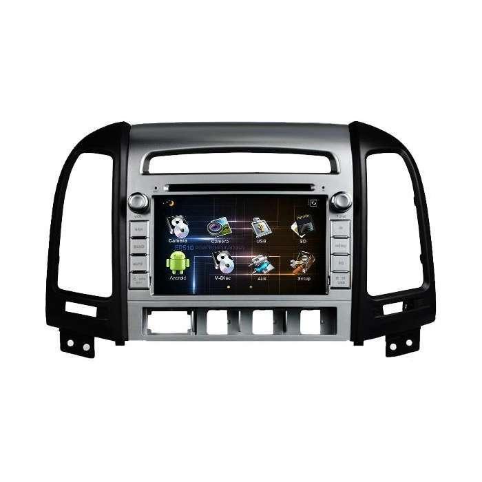 """Radio DVD Navegador GPS Android para Hyundai Santa Fe (7"""")"""