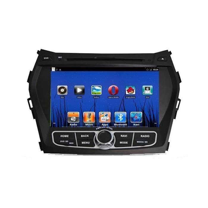 "Radio DVD Navegador GPS Android para Hyundai IX45 (8"")"