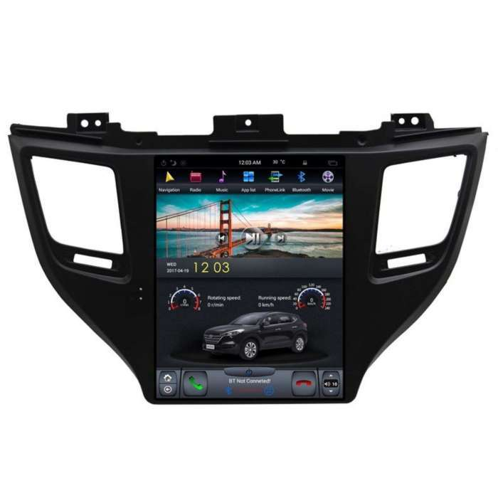 "Radio Navegador Android Tipo Tesla para Hyundai Tucson / IX35 (10,4"")"