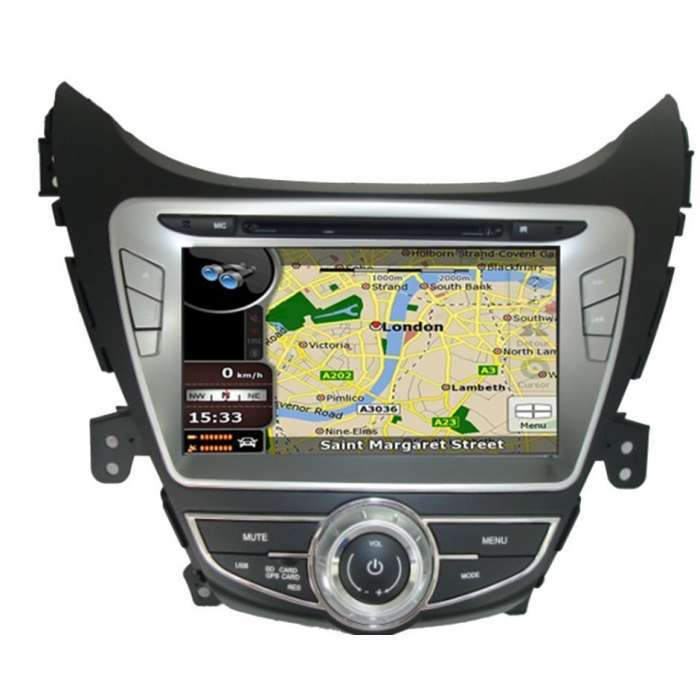 "Radio DVD Navegador GPS Android para Hyundai Elantra / IX35 (7"")"