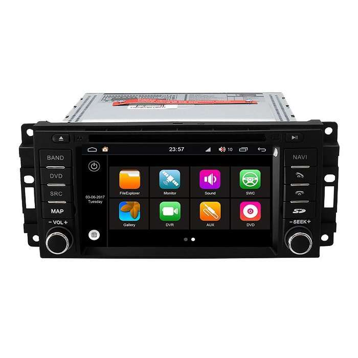 "Radio DVD Navegador Modelo S200 Android para Jeep / Chrysler / Dodge (6,2"")"