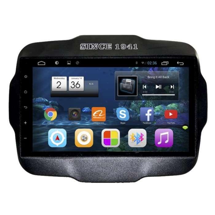 """Radio Monitor Navegador GPS Android para Jeep Renegade (9"""")"""
