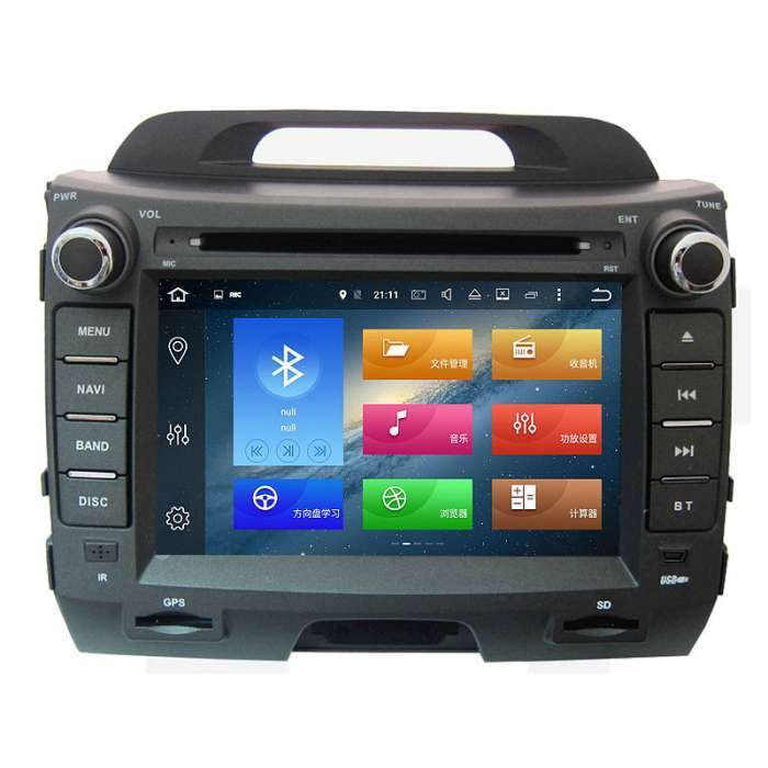 "Radio DVD Navegador GPS Android para Kia Sportage R (8"")"