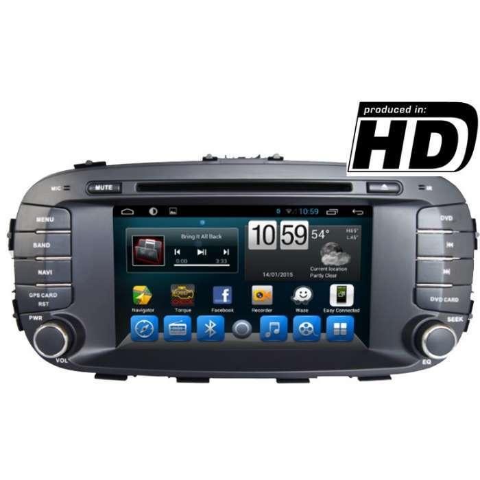 "Radio DVD Navegador GPS Android para Kia Soul (7"")"