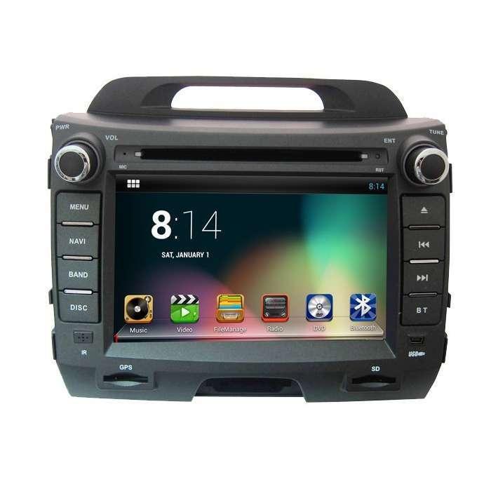 "Radio DVD Navegador GPS Android para Kia Sportage R (7"")"