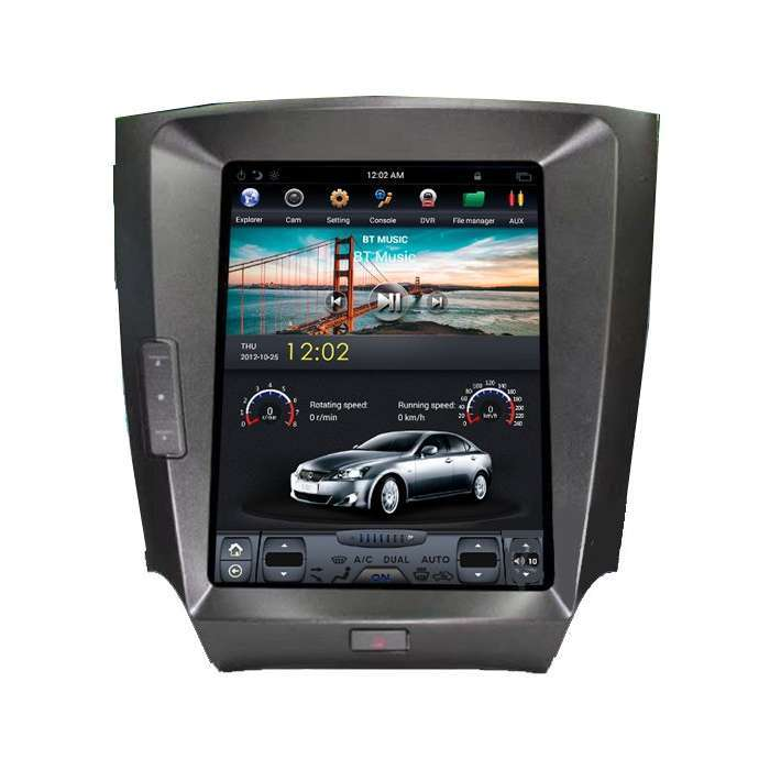 """Radio Navegador Android Tipo Tesla para Lexus IS (12,1"""")"""