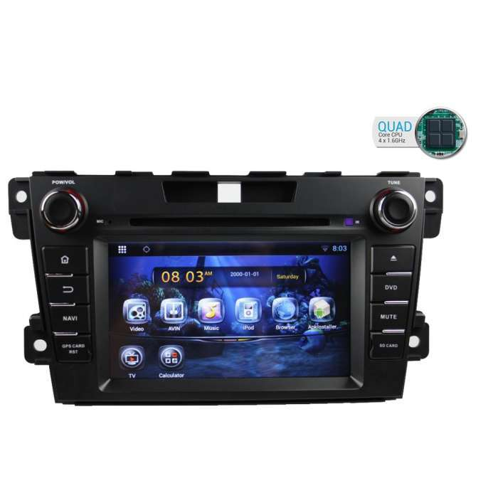 """Radio DVD Navegador GPS Android para Mazda CX-7 (7"""")"""