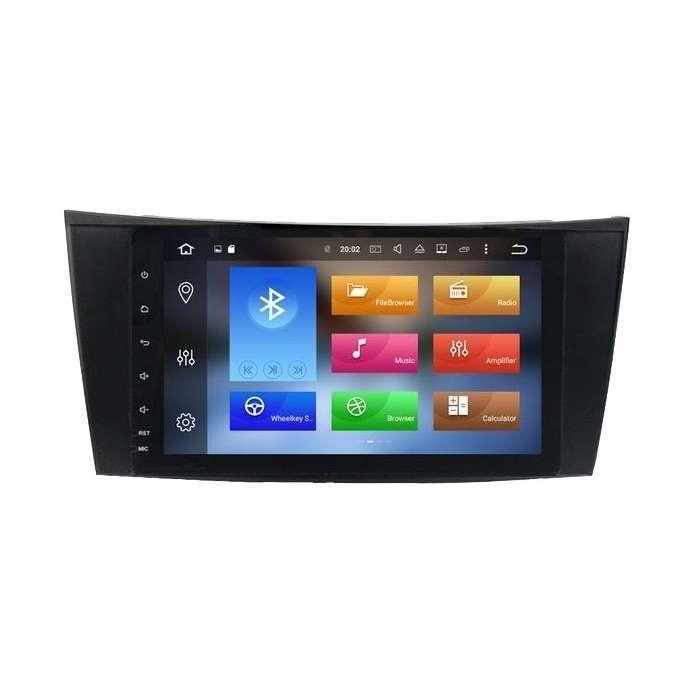 """Radio DVD Navegador GPS Android para Mercedes Clase E (8"""")"""