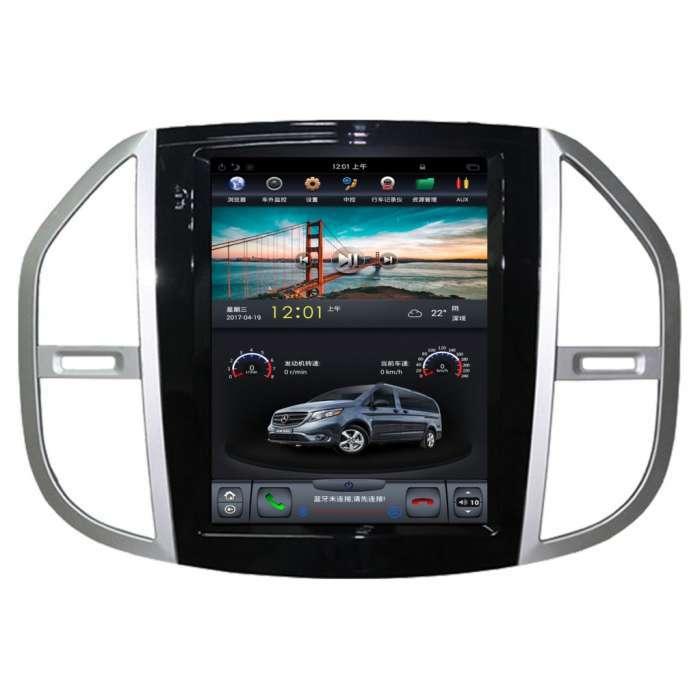 """Radio Navegador Android Tipo Tesla para Mercedes Vito (12,1"""")"""