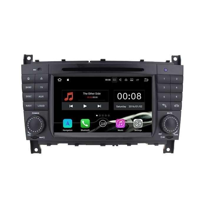 """Radio DVD Navegador GPS Android para Mercedes Clase C (7"""")"""
