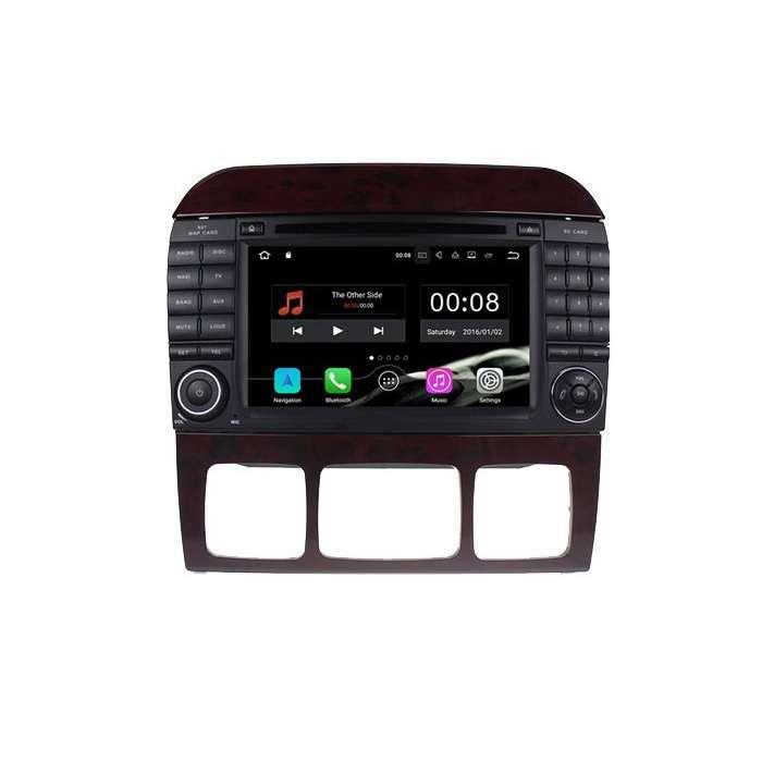 """Radio DVD Navegador GPS Android para Mercedes Clase S (7"""")"""