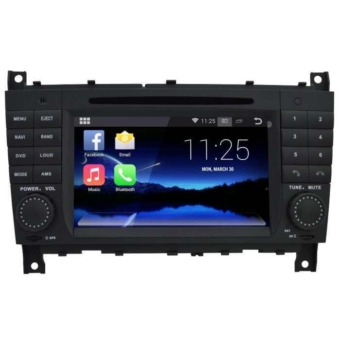 "Radio DVD Navegador GPS Android para Mercedes CLK / G / CLS (7"")"