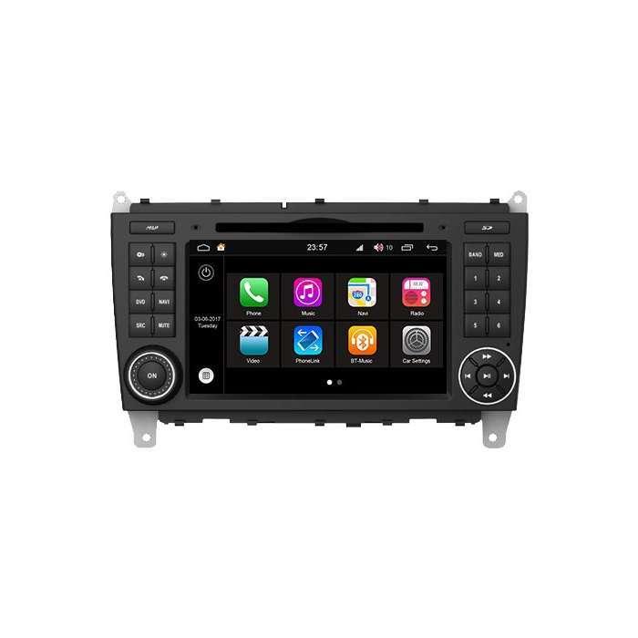 """Radio DVD Navegador Modelo S200 Android para Mercedes Clase C (7"""")"""