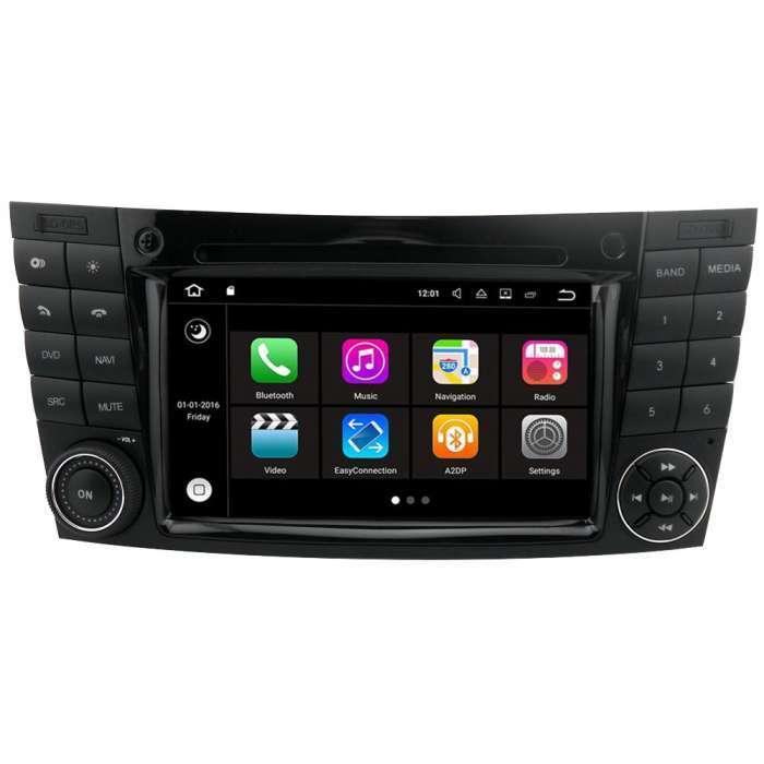 """Radio DVD Navegador Modelo S200 Android para Mercedes Clase E (7"""")"""