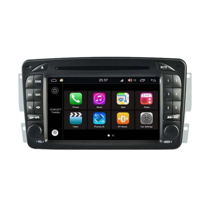 """Radio DVD Navegador Modelo S200 Android para Mercedes (7"""")"""