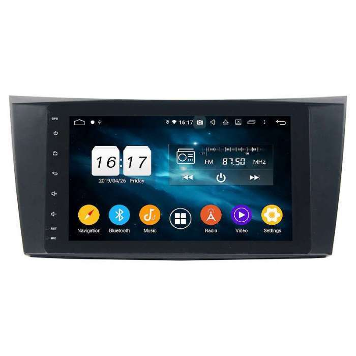"""Radio Navegador GPS Android para Mercedes Benz Clase E (9"""")"""