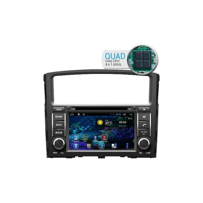 "Radio DVD Navegador GPS Android para Mitsubishi Montero (7"")"