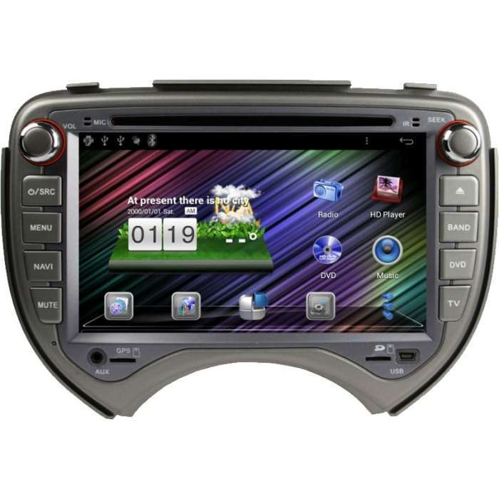 "Radio DVD Navegador GPS Android para Nissan Micra / March (7"")"