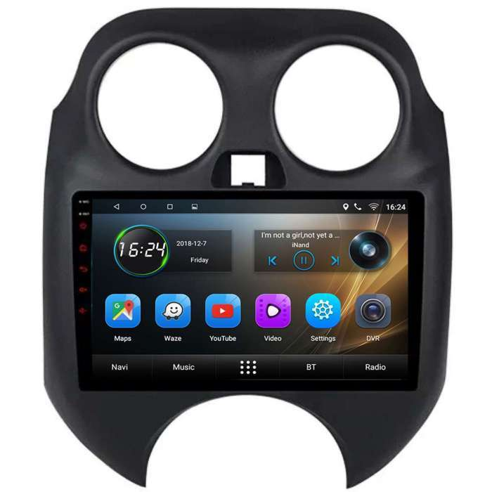 "Radio Navegador GPS Android para Nissan March / Micra (9"")"