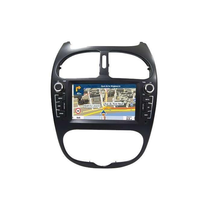 "Radio Navegador GPS Android para Peugeot 206 (7"")"