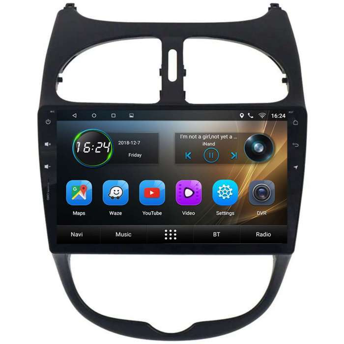 "Radio Navegador GPS Android para Peugeot 206 (9"")"