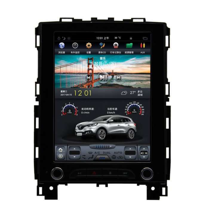 """Radio Navegador Android Tipo Tesla para Renault Koleos (10,4"""")"""