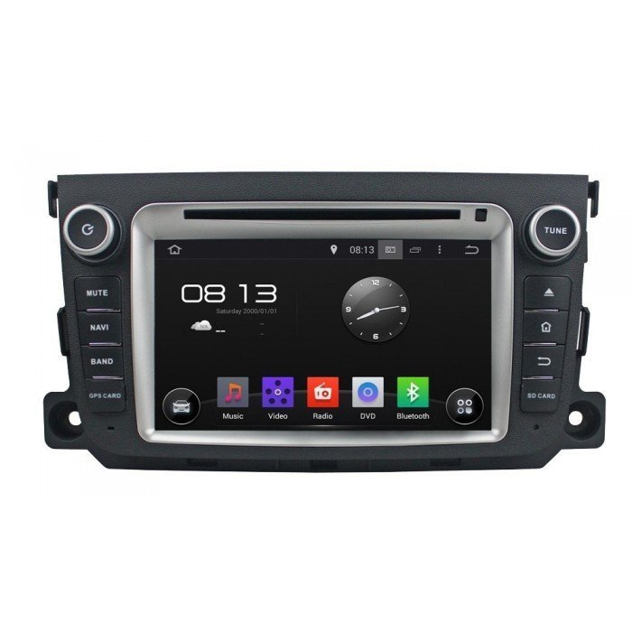 "Radio DVD Navegador GPS Android para Smart (7"")"