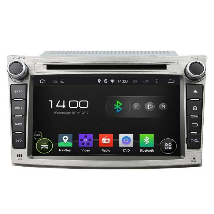 "Radio DVD Navegador GPS Android para Subaru Outback (7"")"