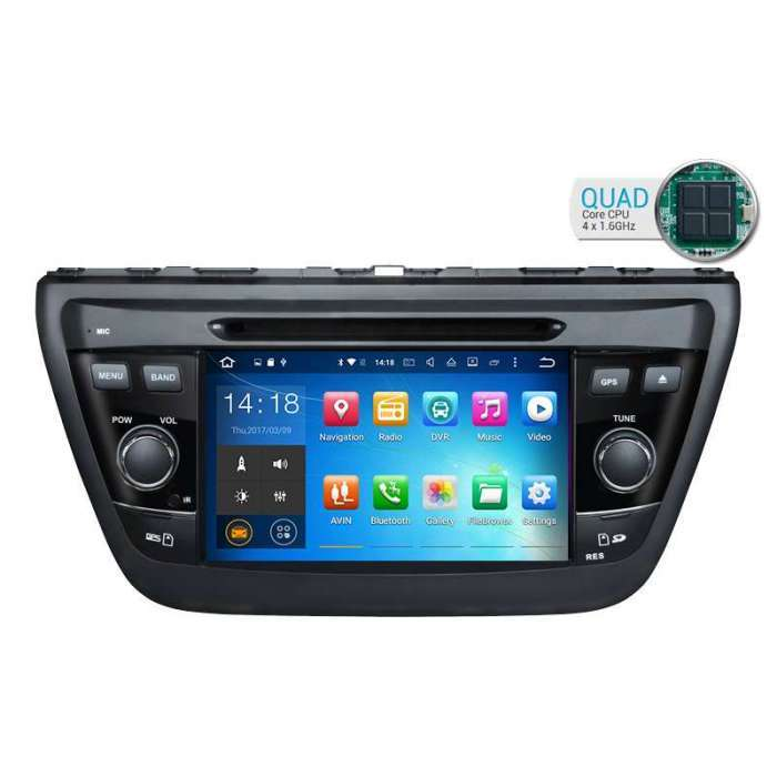 "Radio DVD Navegador GPS Android para Suzuki SX4 / S Cross (8"")"