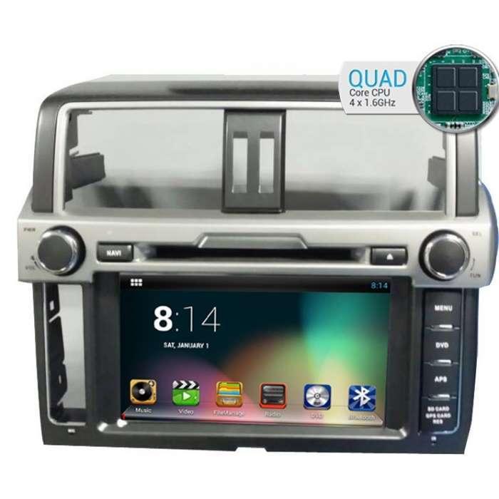 "Radio DVD Navegador GPS Android para Toyota Land Cruiser VX (8"")"