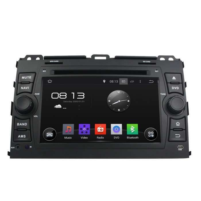 "Radio DVD Navegador GPS Android para Toyota Land Cruiser KDJ 120 (7"")"