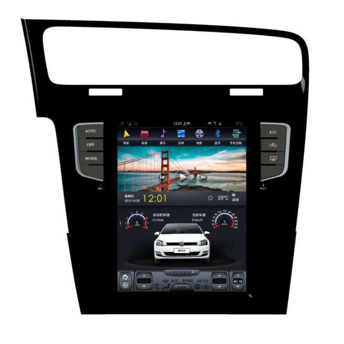 """Radio Navegador Android Tipo Tesla para Volkswagen Golf (10,4"""")"""